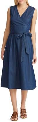 Chaps Denim Fit--Flare Dress