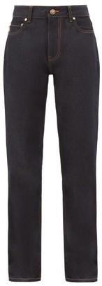 Ganni High-rise Boot-cut Jeans - Indigo