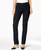 Charter Club Lexington Starry Night-Print Straight-Leg Jeans, Only at Macy's