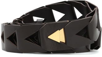 Bottega Veneta Cut-out leather belt