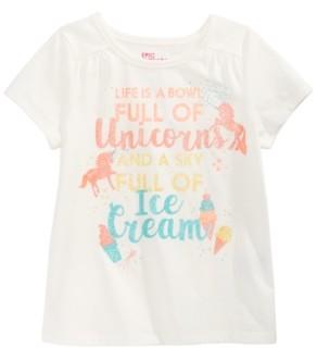 Epic Threads Little Girls Bowl Of Unicorns T-Shirt, Created for Macy's