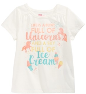 Epic Threads Toddler Girls Bowl Of Unicorns T-Shirt, Created for Macy's