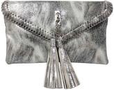 Sondra Roberts Silver Metallic Clutch