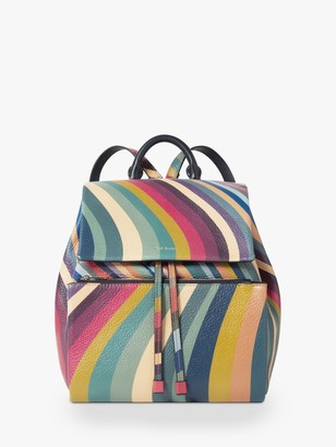 Paul Smith Small Leather Backpack, Swirl
