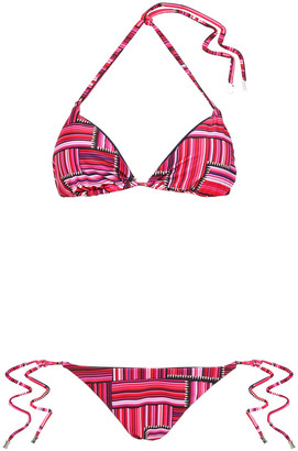 Mary Katrantzou Triangle Low-rise Bikini