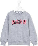 MSGM logo appliqué sweatshirt - kids - Cotton - 4 yrs