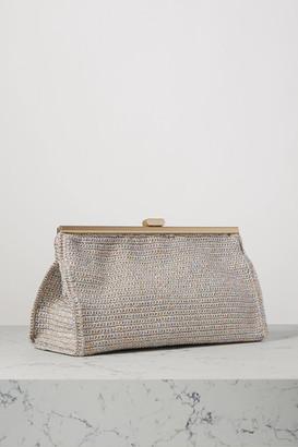 MIZELE Bourse Crochet-knit Lurex Clutch - Blue