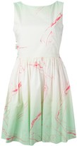Marc by Marc Jacobs marble print flared dress