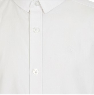 River Island Boys Short Sleeve Twill Shirt- White