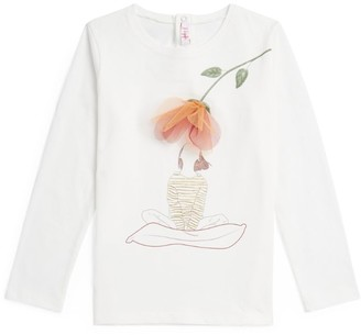 Il Gufo Rose Applique Long-Sleeved T-Shirt (3-12 Years)