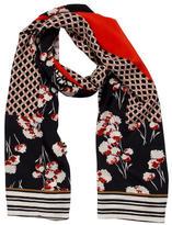 Tory Burch Silk Floral Scarf
