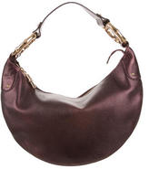 Gucci Bamboo Ring Leather Hobo