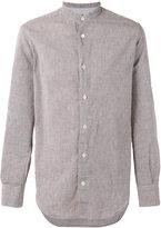 Eleventy mandarin neck shirt - men - Cotton/Linen/Flax - 39
