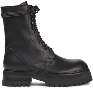 Ann Demeulemeester Leather Combat Boots