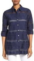 Foxcroft Women's Circle Eyelet Tunic Shirt