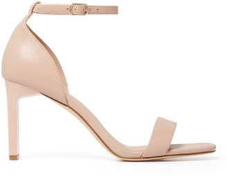 Forever New Natalie Thin Square Heels - Nude - 37