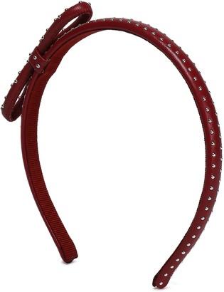 Red(V) Studded Leather Headband