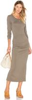 James Perse Skinny Split Dress