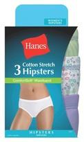 Hanes Women's ComfortSoft® Waistband Cotton Hipster ET41AS 3-Pack