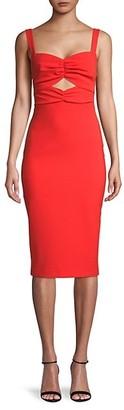 LIKELY Cutout-Front Sheath Dress