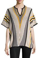 Trina Turk Tyla Cotton Intarsia Sweater