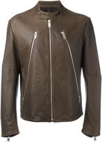 Maison Margiela leather sports jacket - men - Cotton/Lamb Skin/Viscose - 50