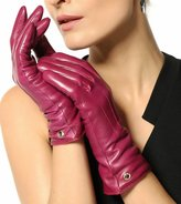 Elma Women's Touch Screen Italian Nappa Leather Winter Texting Gloves Pure Cashmere Warm Lining (, XL)