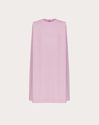Valentino Short Cady Couture Dress Women Pink Silk 100% 36