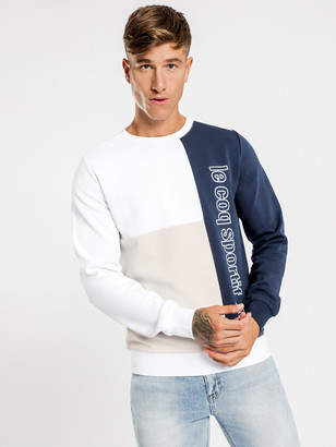 Le Coq Sportif Yves Pullover Sweater in White
