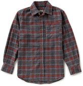 First Wave Big Boys 8-20 Plaid Spread Collar Button-Down Long-Sleeve Shirt