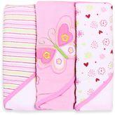 SpaSilk Hooded Towel (Pack of 3) - Butterfly