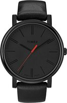 Timex Women's T2N795 Quartz Originals Oversized Watch with Grey Dial Analogue Display and Grey Leather Strap