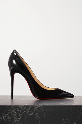 Christian Louboutin Kate 100 Patent-leather Pumps - Black