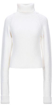 Rib knit turtleneck sweater with logo Loewe Gov US