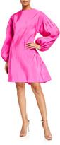 ADAM by Adam Lippes Silk Faille Shirred Back Dress