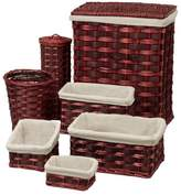 Honey-Can-Do 7 Piece Wicker Laundry Hamper and Waste Basket Set