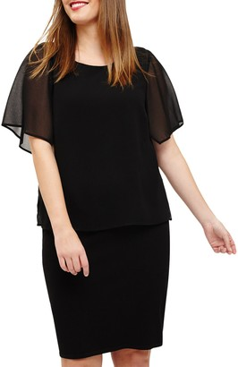 Studio 8 Minnie Double Layer Dress, Black
