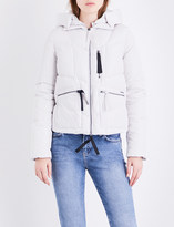 Armani Jeans Quilted cropped down jacket