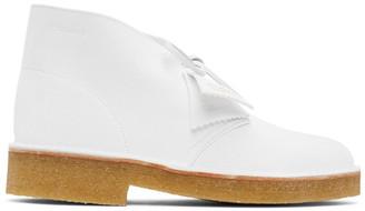 Clarks White Suede Desert Boots
