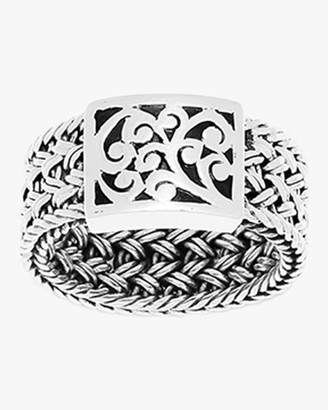 Lois Hill Classic Woven Textile Carved Scroll Ring