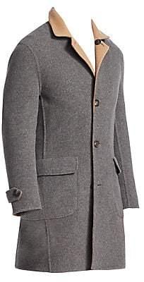 Brunello Cucinelli Men's Wool & Cashmere Double-Faced Overcoat