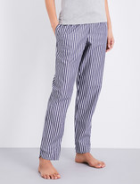 Sunspel Striped cotton pyjama bottoms