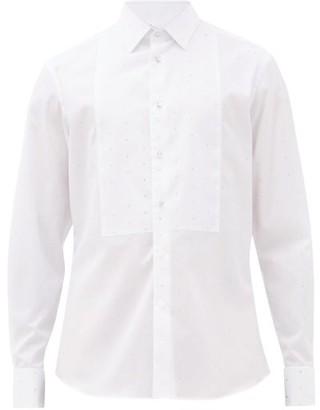 Burberry Crystal-embellished Cotton-poplin Tuxedo Shirt - White