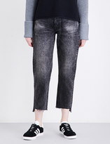 Grlfrnd Helena distressed straight high-rise jeans