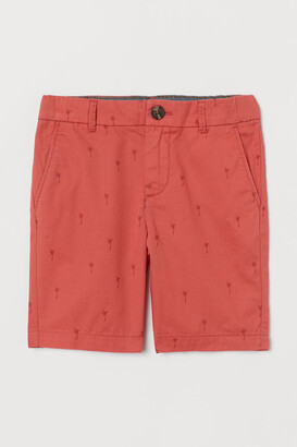 H&M Cotton Chino Shorts - Orange
