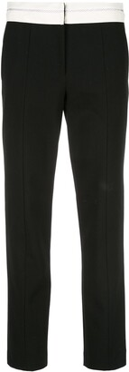 Tibi Slim Trousers With Exposed Waistband