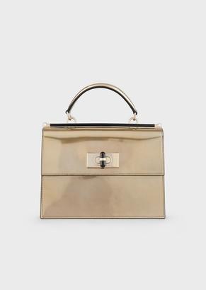 Giorgio Armani Borgonuovo 11 Liquid-Laminated Leather Handbag
