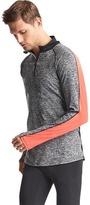 Gap Brushed tech jersey half-zip pullover