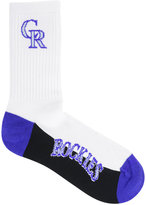For Bare Feet Colorado Rockies Crew White 506 Socks