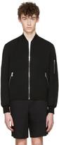 Versace Black Quilted Wool Jacket